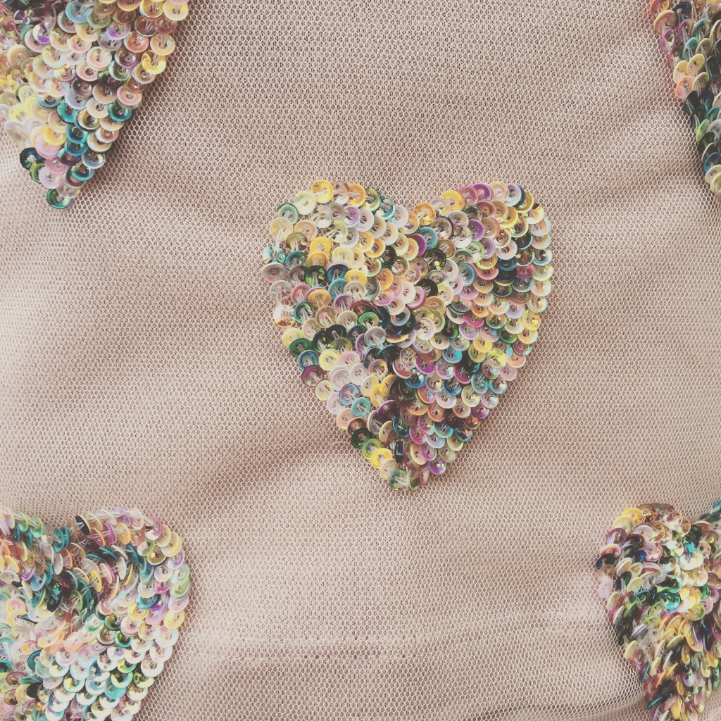 asos sequin heart top